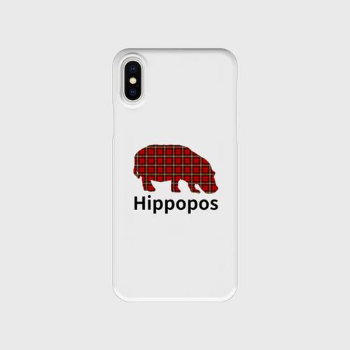 iPhoneクリアケース「Hippopos(チェック)」