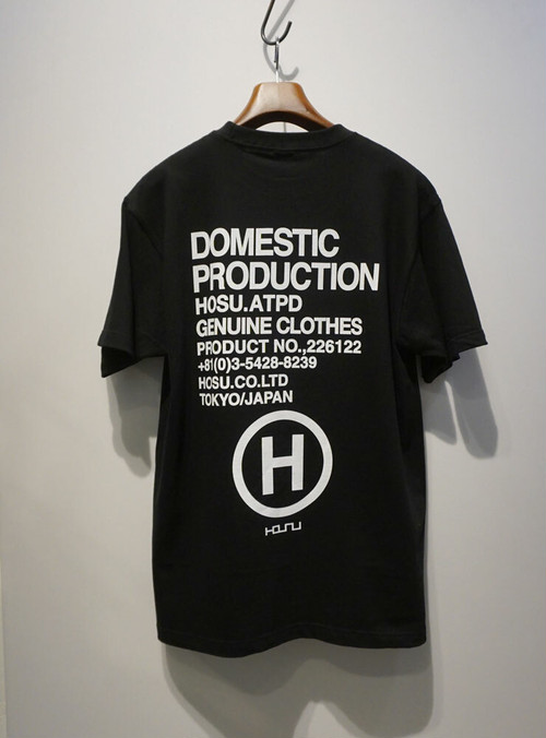 HOSU DOMESTIC PRODUCTION Tee ブラック