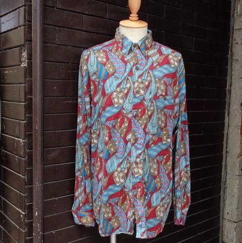 Pattern Long Sleeve Shirt  総柄 長袖 シャツ