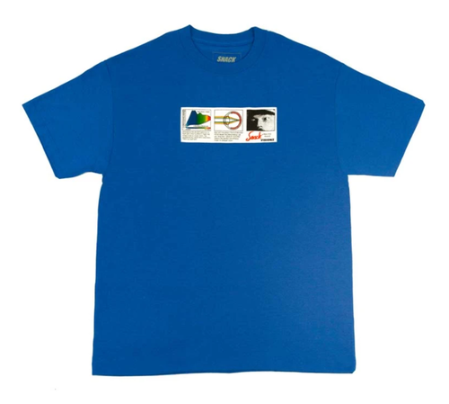 SNACK SKATEBOARDS / VISIONZ TEE / BLUE / Tシャツ / L