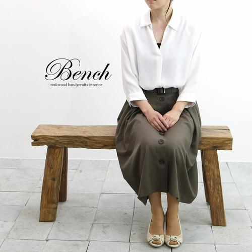 ■送料無料■古材のナチュラルな質感が素敵!オールドチーク材のベンチ 約1m 52-1