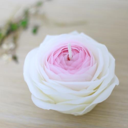 薔薇のプリンセス。蜜蝋キャンドル