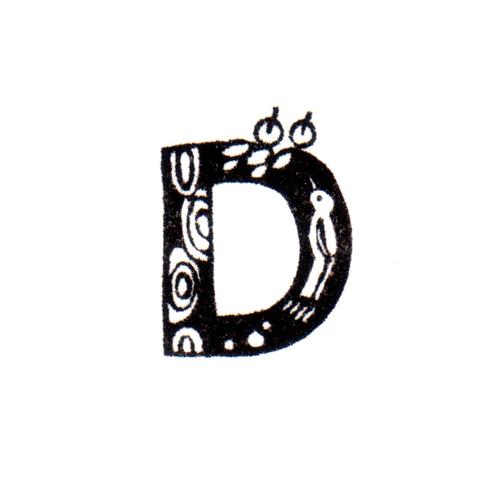 トリファベット D Bird Alphabet D
