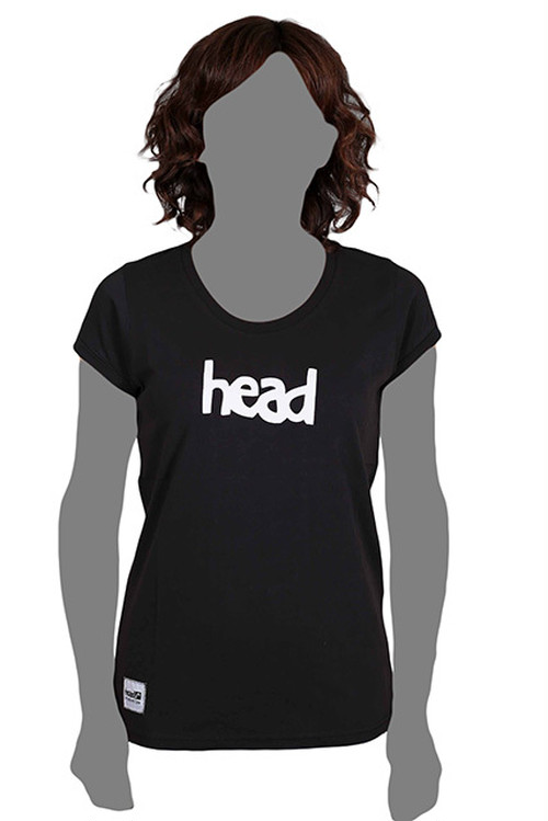 LOGO T-SHIRT WOMEN Black(head) -レディス-