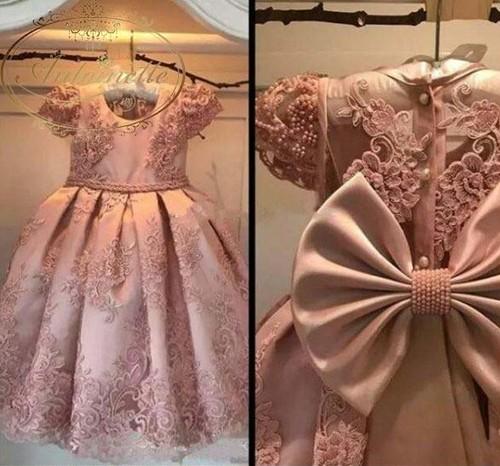 おんなのこ 子供ドレス フォーマル elegant エレガント 刺繍 ピンク 半袖 ドレス dress 卒園式 卒業式