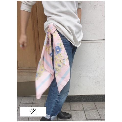 Ralph Lauren 1980's dead stock floral silk scarf