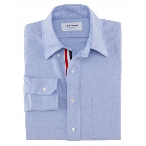 THOM BROWNE. CLASSIC OXFORD BUTTON DOWN SHIRT WITH GROSGRAIN PLACKET (トム ブラウン クラシック オックスフォード ボタンダウンシャツ グログラン)