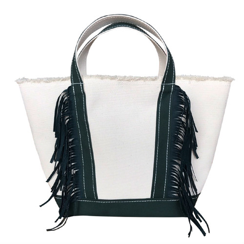 Side Fringe Tote Bag/GREEN