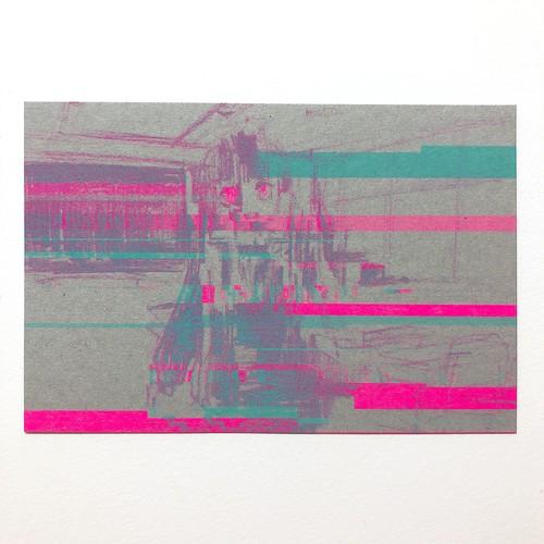 ポストカード「glitch: loading-error」2色刷り