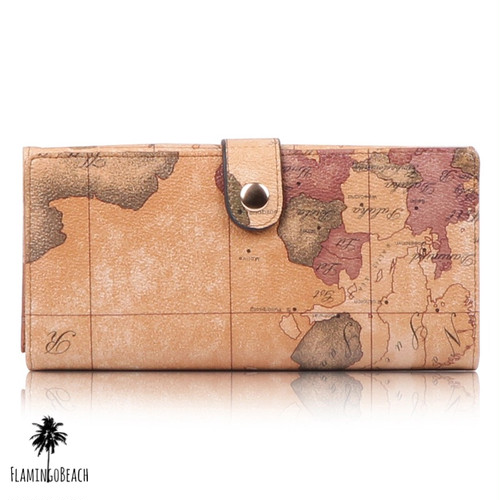 【FlamingoBeach】 world map wallet 財布 67188
