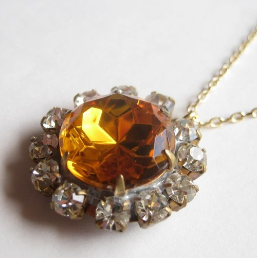 TheDelight antique Czech stone pendant(アンティーク チェコ ストーン ペンダント)①