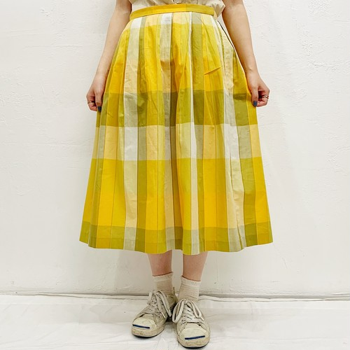 (LOOK) check flare skirt