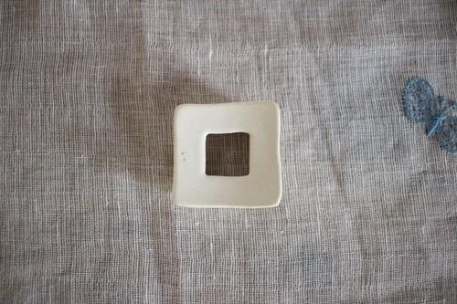 辻本路|箸置き 四角 (白)