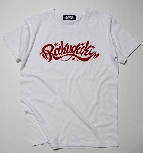 RAKUGAKI Main logo T-Shirts White x Red