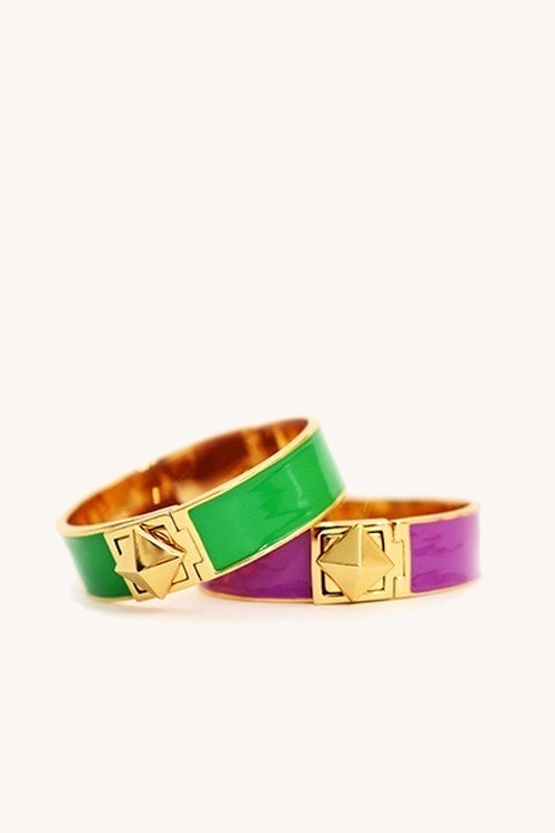Kate Spade Locked in thin bangle(purple)