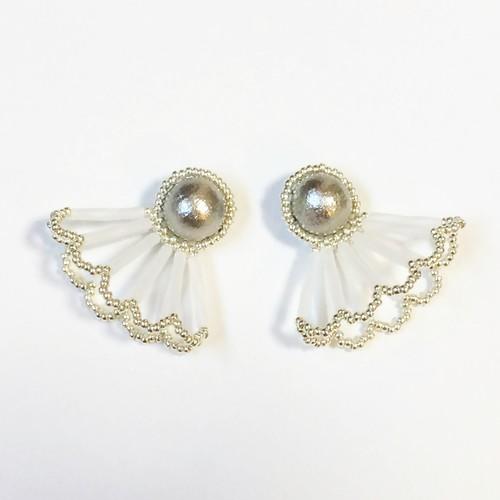 Pearl Lace Pierce/Earrings(Lサイズ)