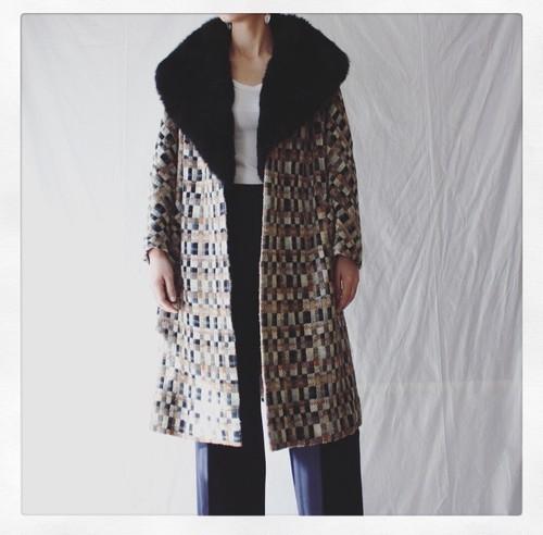 Tweed Fur Coat