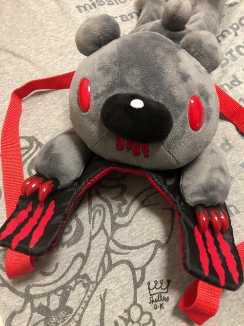 2000's チャッX GLOOMY stuffed animal backpack