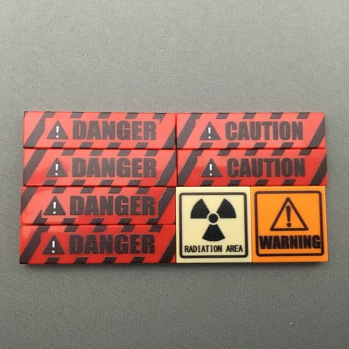 LEGO レゴ DANGER 放射線注意ブロックセット