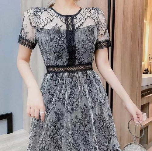 black lace dress 2color