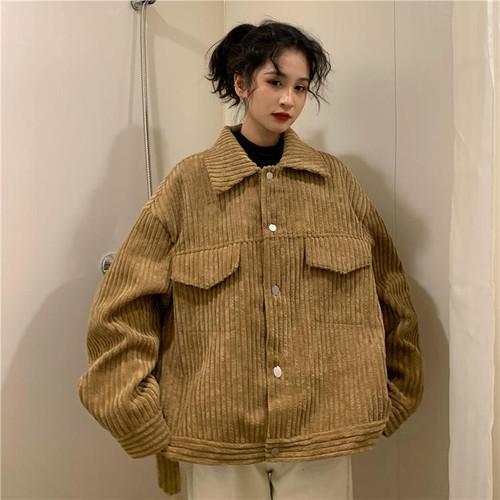 【送料無料】 今季旬のジャケット♡ ゆるだぼ コーデュロイ ビッグシルエット オーバーサイズ カジュアル ジャケット
