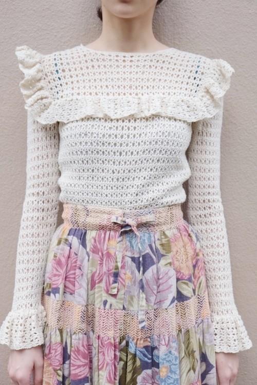 madoromi knit blouse.