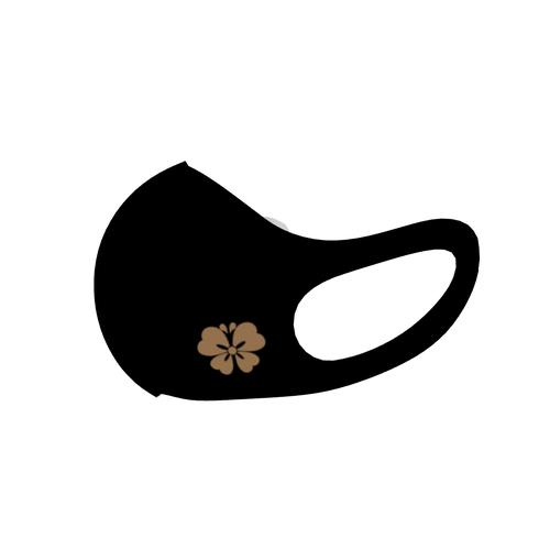桜蝶家紋 BLACK 和柄ファッションマスク レギュラーサイズ