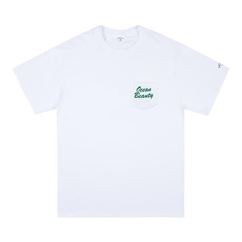 Ocean Beauty Pocket Tee(White)