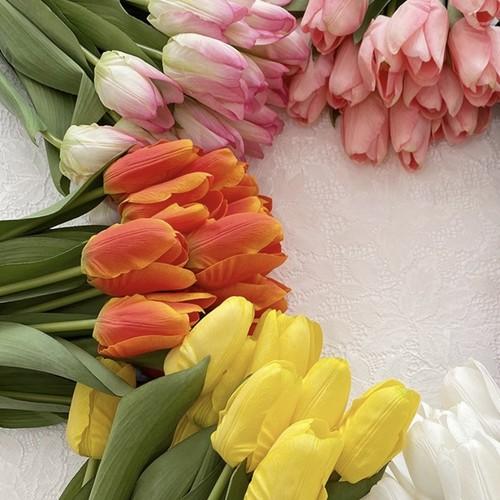 【NEW TYPE】artificial flower - tulip 5colors / チューリップ 造花 リアル シルク 撮影小物 韓国 インテリア 雑貨