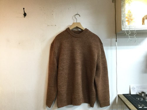"crepuscule""Lowgage Crewneck Knit Brown"""