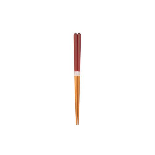 ダイヤカット箸(豆)赤 【45-016】