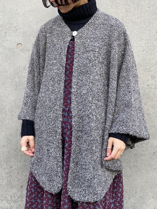 (TOYO) cable knit poncho
