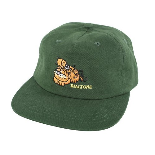 DIALTONE  MONDAYS GARFIELD SNAPBACK HAT FOREST GREEN