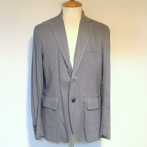 Stretch Linen Tailored Jacket BlueGray