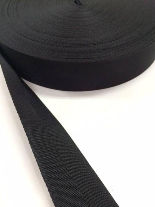 ナイロン 杉綾織(綾テープ) 38mm幅 黒 1巻 (50m)