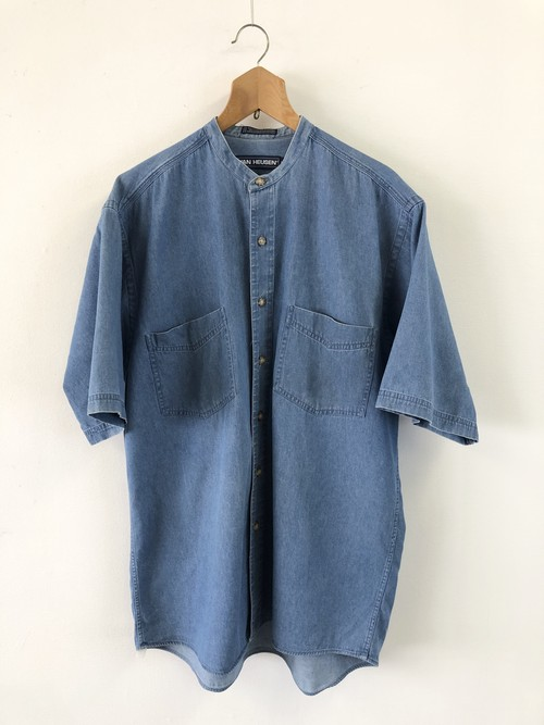 VAN HEUSEN No Collar Denim Shirt