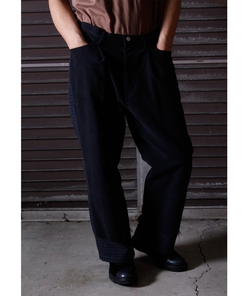 Tuck Layered Pants -black <LSD-BJ3P3>