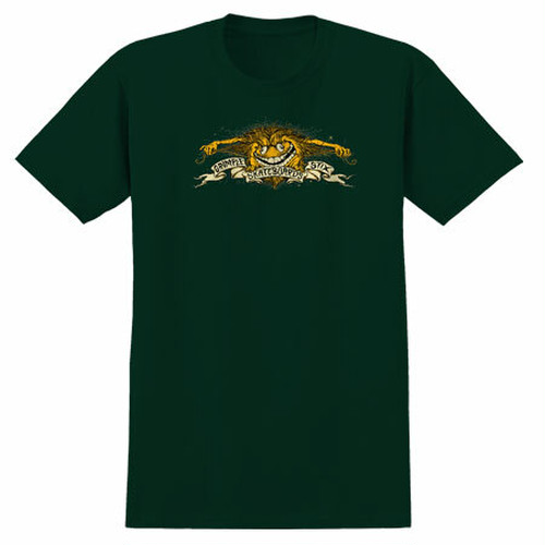 ANTI HERO GRIMPLE STIX EAGLE TEE FOREST GREEN