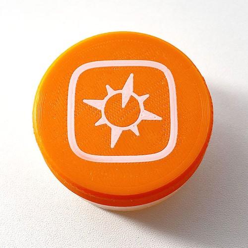 ジオグラフィカ マルチ調味料ケース(オレンジ)