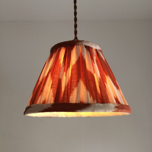 pendant lamp ikat orange/white color