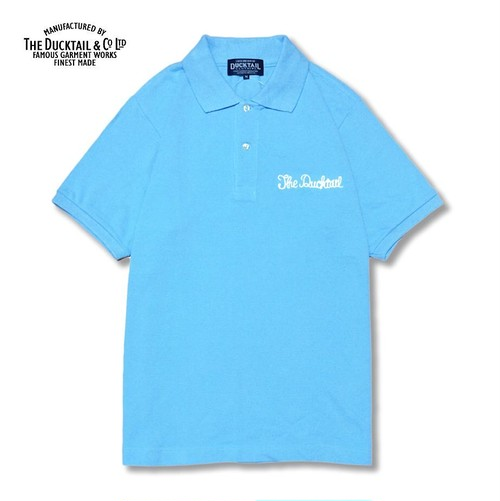 """DUCKTAIL CLOTHING """"PARADISE POLO"""" LIGHT BLUE ダックテイル クロージング ポロシャツ"""