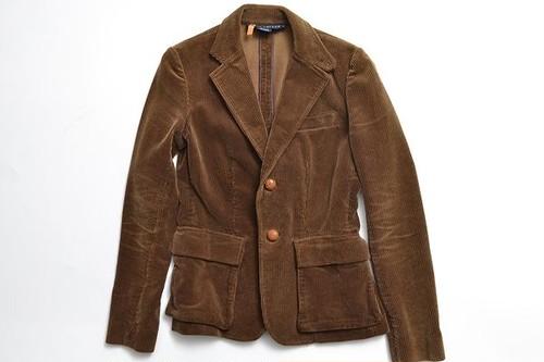 RALPH LAUREN size2 couduroy jacket kurumi botton