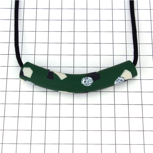 "Studio Emma Odenkirchen ""PENNE PAL TUBE GREEN""ネックレス"