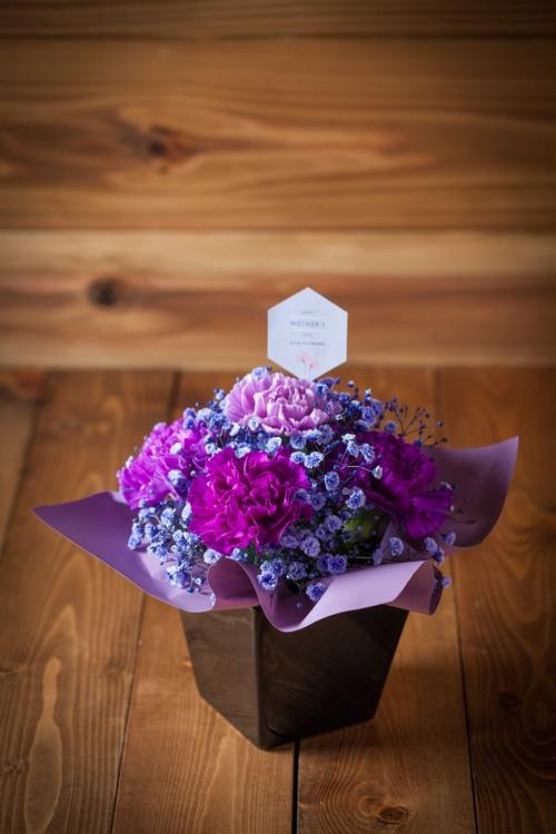 【母の日・花のプレゼント】ザ・ムーンダスト(パープル系アレンジメント)