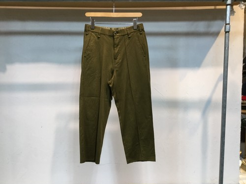 "40%OFF CURLY""BRCE WD TROUSERS KHAKI BEIGE"""