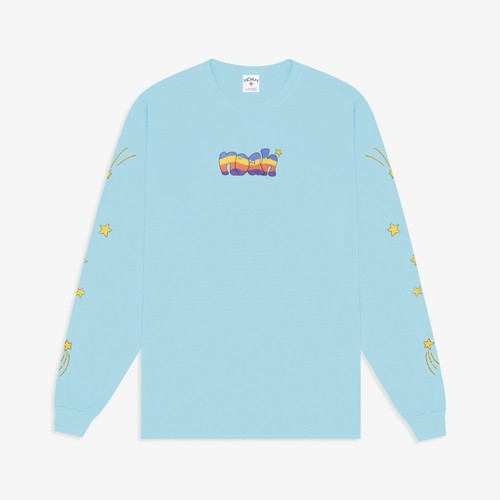 Stars Long Sleeve Tee(Aquatic Blue)