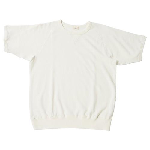 ※アウトレット品 Women's 裏毛半袖スウェットシャツ White 0サイズ