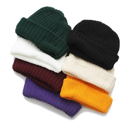 "Columbia Knit Factory|Cotton Short Beanie ""Restock"""