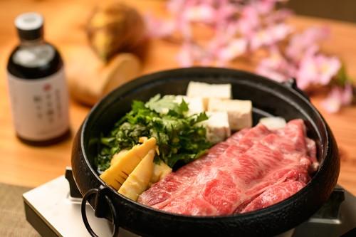 穂付きたけのこと大和牛の春すき焼きセット/お肉400g