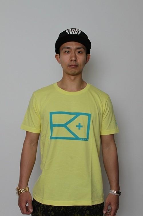 kyusパステルカラーTシャツレモン×ライム